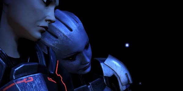 Full size is 600   215  305 pixelsMass Effect 3 Liara And Shepard