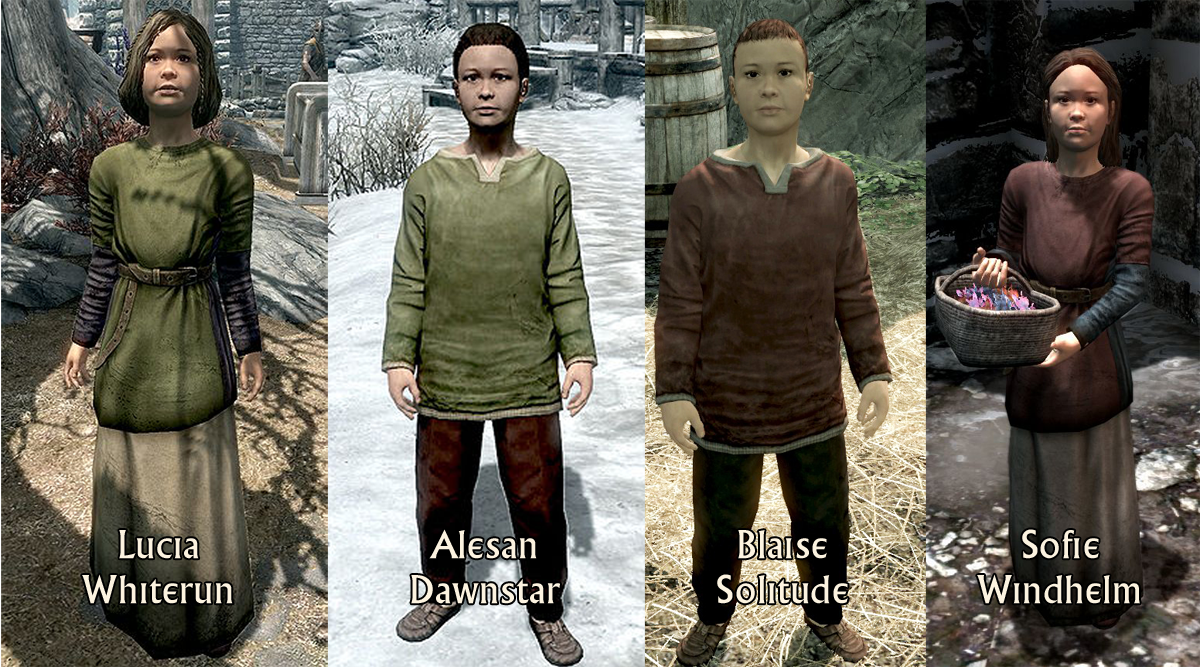 Skyrim Adopt Many Kids